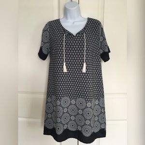 Patterned Dress with Tassels